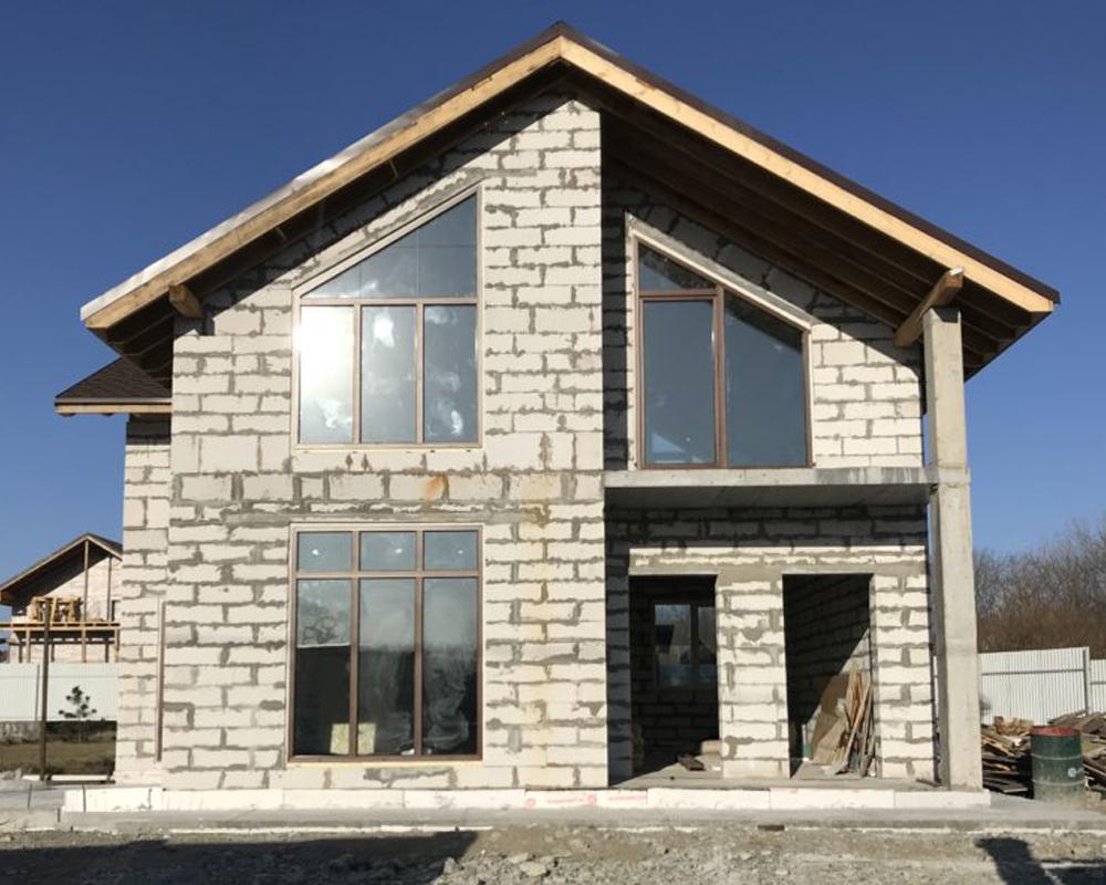 фото готовых построенных домов из газоблока каракуля достаточно популярны